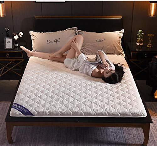 JINDSMART Twin Size Traditional Japanese Floor Futon,Foldable Cushion Mats,Sleeping Tatami Floor Mat,Breathable Futon Tatami Mattress Pad