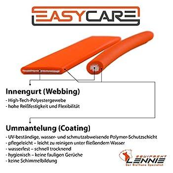 EasyCare Lennie Longe caoutchoutée avec dragonne 4couleurs disponibles 20mm