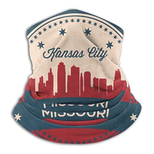 Bandanas mágicas de la bandera estadounidense de Missouri State Kansas Skyline para el polvo, al aire libre, festivales, deportes