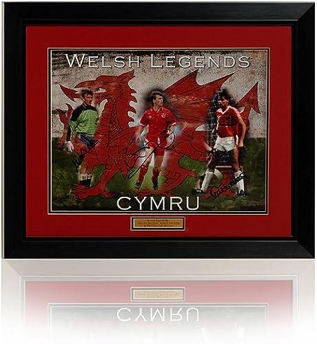 Grand ballon de football du Pays de Galles de triple signature PP485 (montage)
