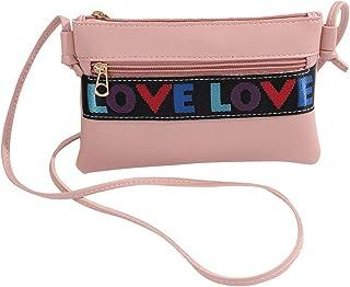 Girls Crossbody Purses Small PU Leather Adjustable Shoulder Bag for Little Girls