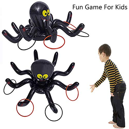 Kungfu Mall Toss Game Aufblasbare Octopus Spider Rings Halloween-Party-Spiel Indoor-und Outdoor-Party-Spiel für Kid Party Supplies