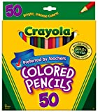 Crayola 50 ct Long Colored Pencils (68-4050), 3 Sets