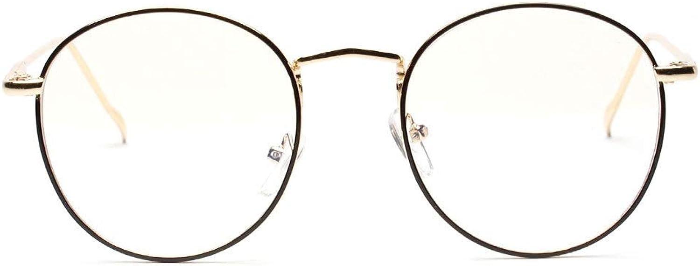 Side golden Decorative Glasses Frame Clear Lens Eyeglasses  Painted