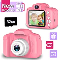 💮Clearer Moment Recorded & Multi-scene Selections- Equipped with auto Focus, 8.0 Mega pixels and 1080P Video. Greatly improved the definition of photos . Catch the wonderful joy moment for boys or girls. With Big head sticker shooting, children can t...