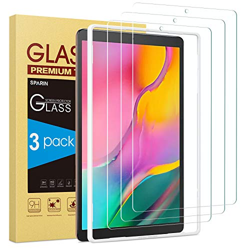 Cheap Screen Protector for Galaxy Tab A 10.1 2019, [3-Pack] SPARIN 9H Hardness Tempered Glass for Sa...