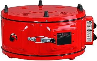 Mini horno redondo, horno de pizza con termostato, esmaltado, 1300 W, 40 litros, 50°-300 °C, color rojo