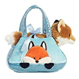 Aurora World Fancy Pals Peek-A-Boo Fox Pet Carrier Orange, 7 inches
