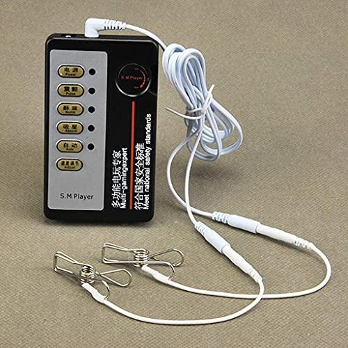 Stimulation Électrique Clips Set, Électrochoc Mamelon Clip Lèvres Clip, Stable Fil Doigt Clip,...