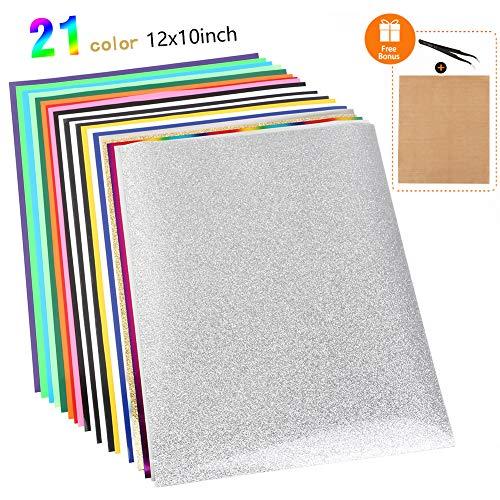Heat Transfer Vinyl Wärmeübertragung Vinyl Textilfolien Transfer-Papier Textilfolien Transferpapier Transferfolie für DIY T-Shirt, Buchstaben, Aufkleber, Schilder (mit Thermopapier)