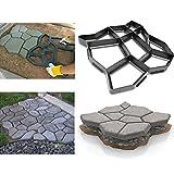 Wasnsc Molde de plástico para pavimentos, para hormigón, piedras y aceras, con 9 cámaras, 42,5 x 42,5 x 4 cm