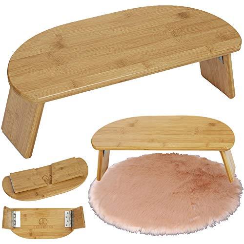 Banco de Meditación Plegable, Banco de Meditación Portátil Ergonómico de Bambú Plegable para Yoga, para La Ceremonia del Té, Seiza, Yoga, Rezar
