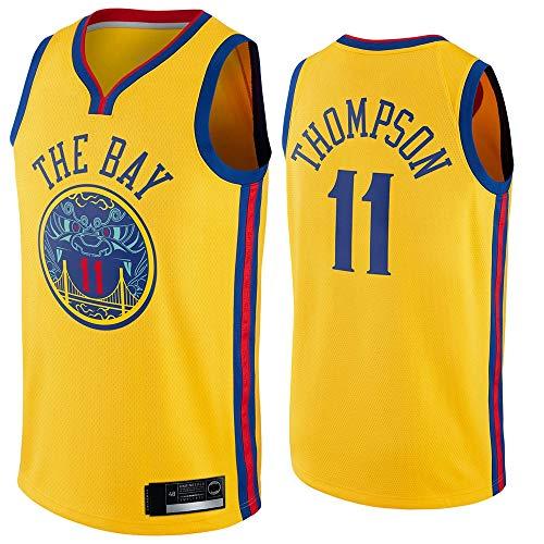 YDYL-LI Hombres Jersey, NBA Golden State Warriors-Klay Thompson # 11 Jersey Gimnasio Chaleco Deportivo Top Top Rapido Secado Chaleco Capacitación Jersey,Amarillo,M(170~175CM)