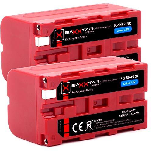 Baxxtar Pro - 2X Batería de Repuesto Sony NP-F750 (5200mAh) - LG Cells Inside