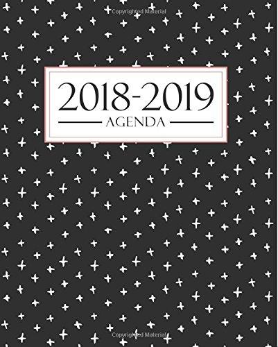 Agenda 2018-2019: 190 x 235 mm : Agenda 2018-2019 semana vista español : 160 g/m² : Agenda semanal 12 meses: Moderno estampado 3667