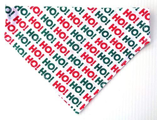 Christmas Red Green Reversible No Tie Slip On Cat Dog Bandana Neckwear Petwear Accessories