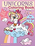 Unicorns coloring books for kids ages 4 through 8: Vol 5 (Unicorns Kids Coloring Books)