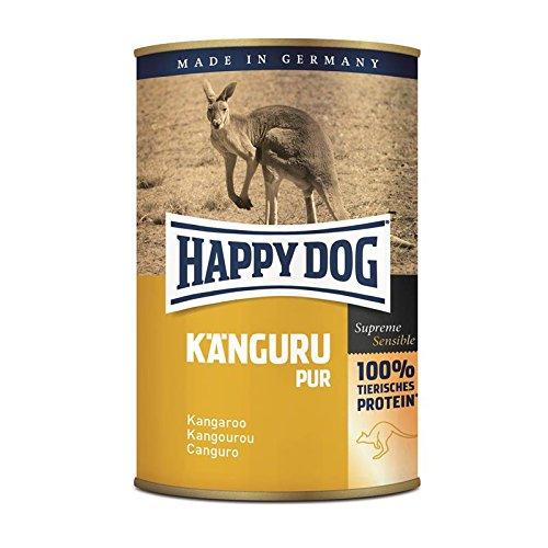Happy Dog Känguru Pur | 12x 400g Nassfutter für Hunde