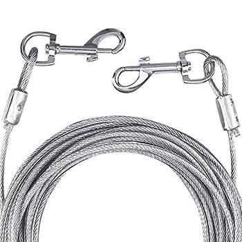 NATUCE Câble d'attache pour Chiens jusqu'à 80 kg, 10M (Blanc), Animaux de Compagnie Plomb pour Chiens de Petite, Moyenne ou Grande Taille (Blanc, 10M)