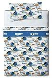 Disney Finding Dory Juego de sábanas, Algodón-Poliéster, Azul, Cama 100/110 (Doble), 200.0x105.0x25.0 cm, 3 Unidades