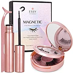 [Magnetic Eyelashes] - Upgrade 3D glamour magnetic eyelashes with the newest magnet design, create the most glamorous look with these 3d magnetic eyelashes. No more seeing magnets or having sagging lashes. [FLAWLESS MAGNETIC EYELINER AND LASHES KIT] ...