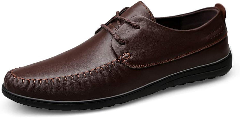 Hhgold 2018 Men's Oxford Business shoes, Casual Simple Comfortable Soft Round Toe Lace Three-Dimensional Formal shoes (color  Black, Size  39 EU) (color   Brown, Size   40 EU)