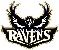 "Decal Vinyl Sticker Baltimore Ravens Football Durable for Bumpers, Helmets, Laptops, Water Bottles, Lockers (3"" Longest Side)"