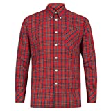 Merc of London Neddy Shirt Camisa, Rouge (Stewart Red), M para Hombre