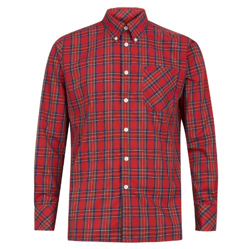 Merc of London Neddy, Shirt Chemise habillée, Rouge (Stewart Red), Medium (Taille Fabricant: M) Homme