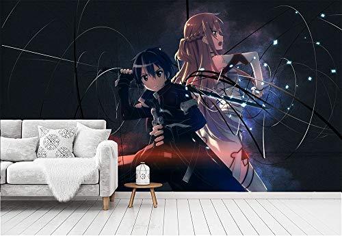 Fototapete Sword Art Online Tapete Fototapeten Vlies Tapeten Vliestapete Wandtapete moderne Wandbild,300cm×210cm(W×H)