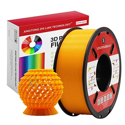 Filamento 3D PLA 1.75mm de Impresión Materiales Filamento para 3D Impresora Precisión Dimensional +/- 0.02 mm Naranja