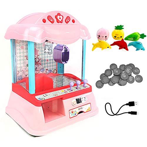 SYLTL Mini Süßigkeitenautomat mit Jahrmarkt Musik und Licht Süßigkeiten Automat für Zuhause für Kinder Spielzeug Geschenk,B