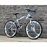YXWJ Las bicicletas de montaña for adultos Niños 24/26 pulgadas de aluminio marco completo de suspensión 24/27-velocidad de bicicletas de montaña for adultos asiento ajustable de la bicicleta MTB Dirt