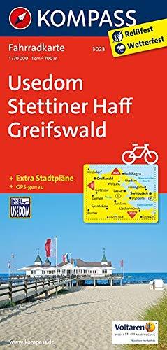 KOMPASS Fahrradkarte Usedom, Stettiner Haff, Greifswald: Fahrradkarte. GPS-genau. 1:70000 (KOMPASS-Fahrradkarten Deutschland, Band 3023)