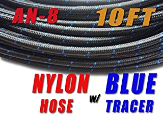 Autopartsupermart -8 AN AN8 Nylon Stainless Steel Braided Fuel Line Hose 10.7 mm (7/16
