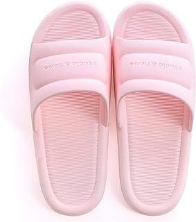 Black Men'S Slippers Comfortable Non-Slip Bathroom Home Beach Sandals Flat Shoes Gray Simple Color White Summer