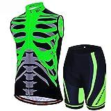 Radtrikot - High Stretch Wicking Sports Mountainbike-Anzug 3D-Hosenpolster Atmungsaktiv Bequem Radfahren Freizeitkleidung -