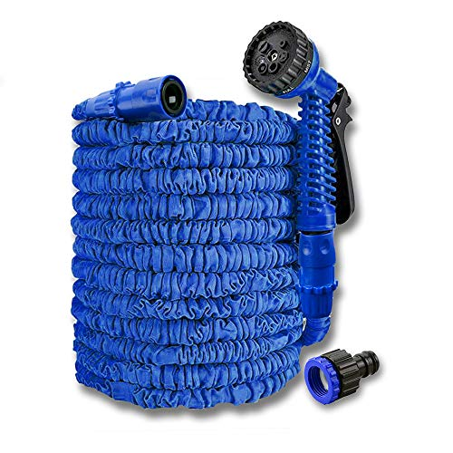 SAILUN Garden Hose Expandable Water Pipe Flexible Hose Pipe with 7 Function Spray Gun, 3 Times Expandable Watering Hose, for Home, Garden, Patio and Car cleaning (25FT - 7.5M, Green)