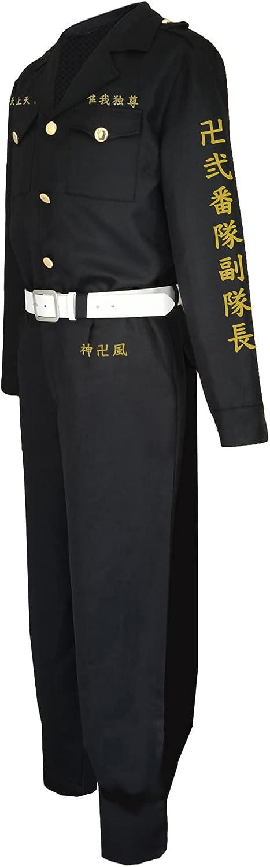 Anime Tokyo Max 90% OFF Revengers Uniform Unisex Belt Tops Trousers Suits Ultra-Cheap Deals To