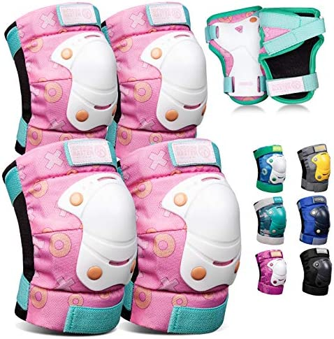 OutdoorMaster Kids Youth Protective Gear Knee Pads Elbow Pads Wrist Guard 6 in 1 Set for Bike product image