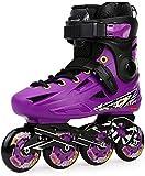 Patines en línea Patines Roller Professional Cuchillas de Rodillo de Fibra de Carbono con Correas de Cerradura seguras Múltiples tamaños Jóvenes Adultos Unisex Zapatos Patines