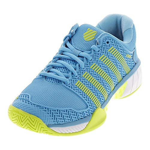 K-Swiss Women's Hypercourt Express Tennis Shoe (Aquarius/White/Neon Citron, 9.5)