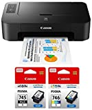 Canon TS207 Single Function Colour Printer with PG745S & CL746S...