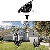 チキンヤードアート屋外ガーデンの芝生金属装具、プールリアルな庭の装飾、中庭、庭、農場の彫刻の装飾に非常に適しています,B