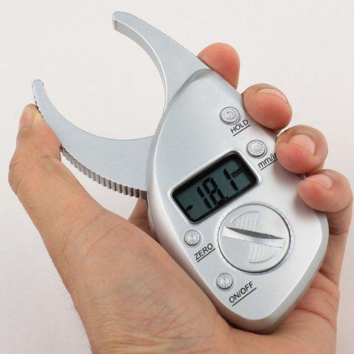 Big Save! Vktech® Digital Body Fat Caliper Skin Fold Analyzer Measuring Tape with LCD Display