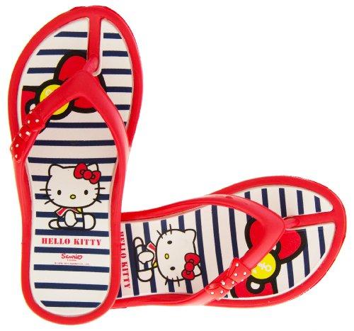 Hello Kitty Ingiro Mädchen Flip-flops Zehensteg Strand Sandalen Rot EU 33