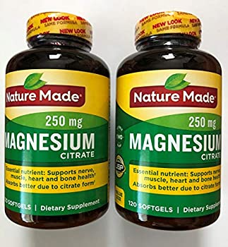 Nature Made Magnesium Citrate Softgels 120 Count Pack of 2