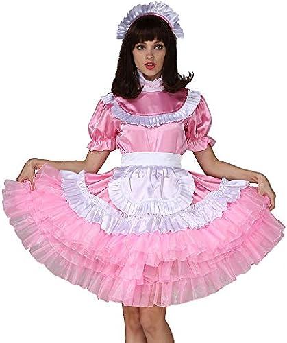 Gocebaby Sissi mädchen Dienstmädchen Abschlie r Rosa Satén Kleid Kostüm Kreuz Kleid Bundfaltenhose Stil