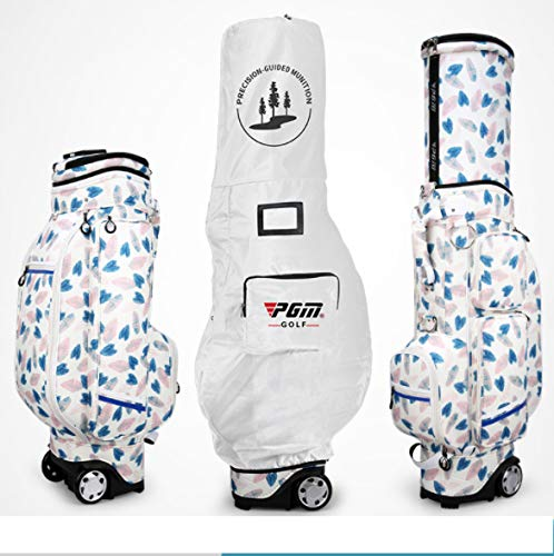Why Should You Buy POSMA PGM-QB053-BFE Women Wheeled Golf Standard Carry Bag Compound Nylon Golf Clubs Bag 4 Exquisite Patterns for Choice -Free a Golf Bag Rain Cover