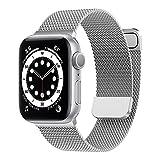 Younsea Metal Correa Compatible con Apple Watch Correa 38mm 40mm 42mm 44mm 41mm 45mm, Pulsera de Repuesto de Metal de Acero Inoxidable para Apple Watch SE / iWatch Series 7 6 5 4 3 2 1 (Negro)